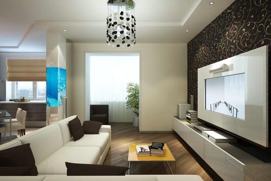 Дизайн гостиной комнаты м
